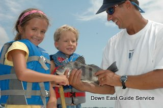 Fly Fishing trout and puppy drum or red fish in North Carolina